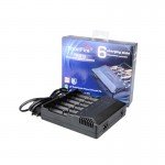 TrustFire TR-012 Multifunctional Li-ion and Ni-MH Battery Charger with 6 Slots