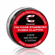 Coilology Tri-Core Staggered Fused Clapton Coil Set 2PC/Box