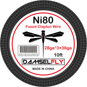 Damselfly Ni80 Fused Clapton Wire 28GA*3+36GA 10ft