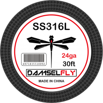 Damselfly SS316L Clapton Wire 24GA 0.5mm