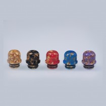 510 Golden Mix Colored Narrow Bore Funnel Drip Tip