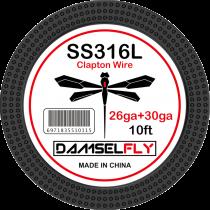 Damselfly SS316L Clapton Wire 26GA+30GA