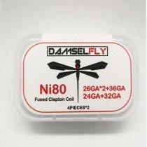 Damselfly Ni80 Fused Clapton Coil