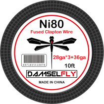 Damselfly Ni80 Fused Clapton Wire 28GA*3+36GA