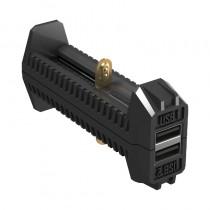 Nitecore F2 Flex Dual-Slot Power Bank Battery Charger