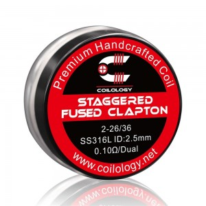 Coilology Staggered Fused Clapton Coil Set 2PC/Box