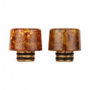 AS218 510 Drip Tip Leaf Pattern Resin Material