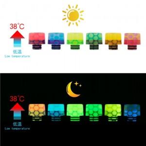 AS250 Night-Luminous Honeycomb 510 Resin Drip Tip