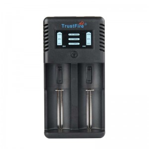 Trustfire TR-019 2A Fast Li-ion Battery Charger with 2 Slots USB Port