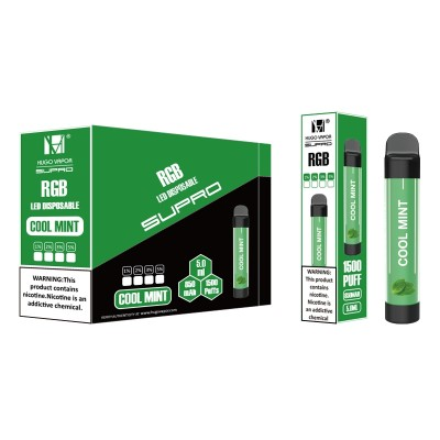 Hugo Vapor Supro RGB 1500Puffs Disposable Kit 10pcs
