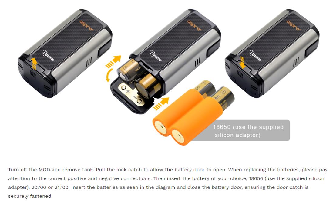 Aspire Dynamo Battery Installation