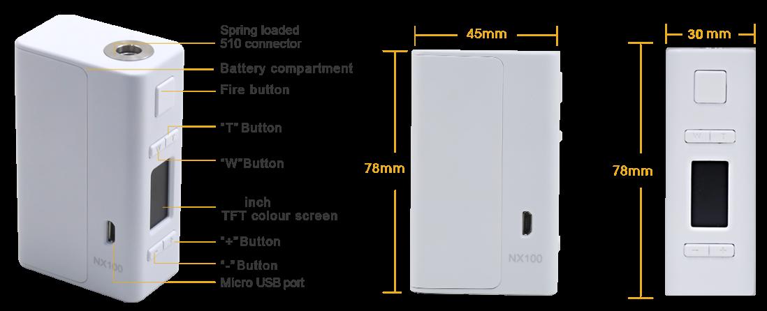 Aspire NX100 Modparameter