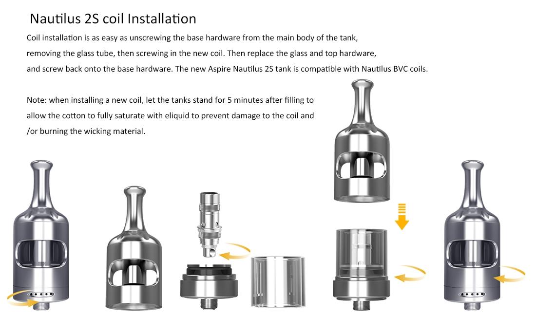 Aspire Nautilus 2S Coil Installation
