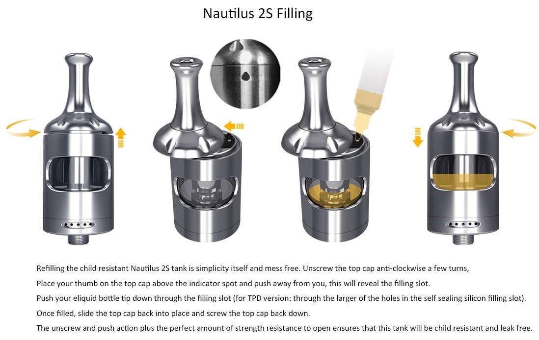 Aspire Nautilus 2S Tank Filling