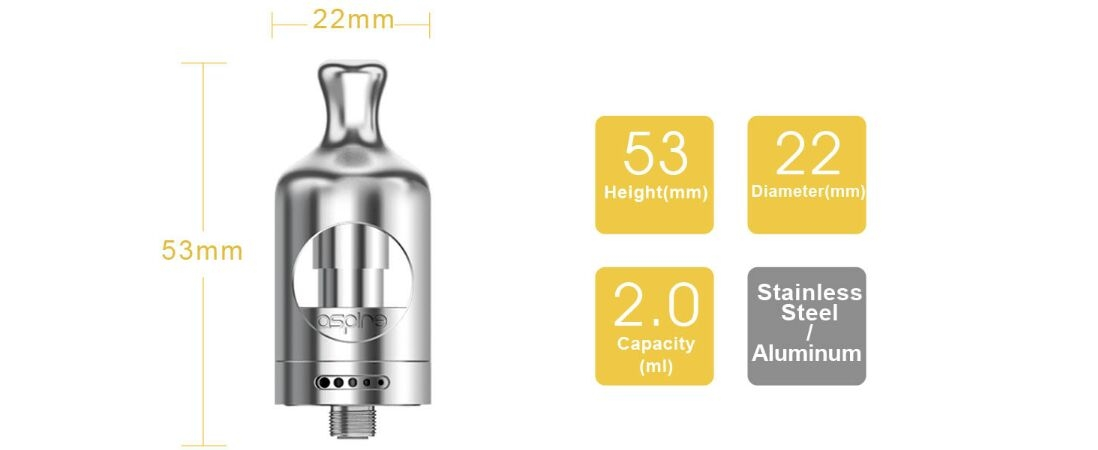 Aspire Nautilus 2 Tank parameter