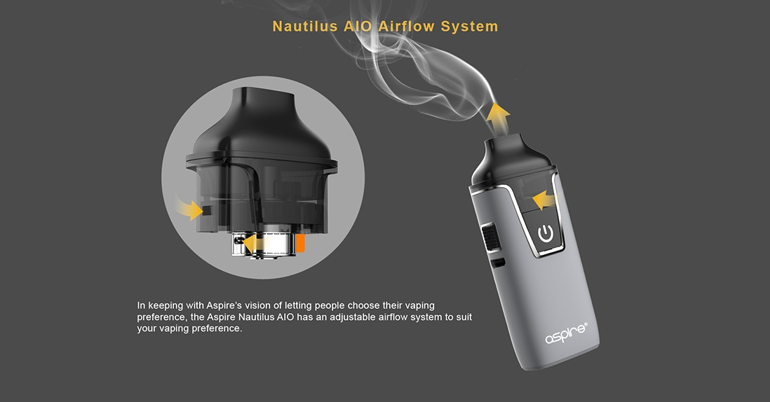 Aspire Nautilus AIO Kit Airflow