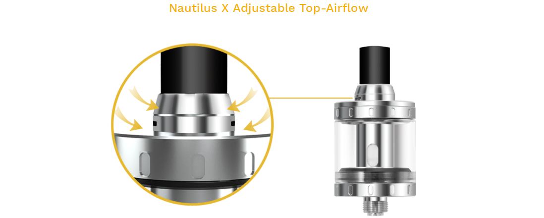 Aspire Nautilus X Tank features