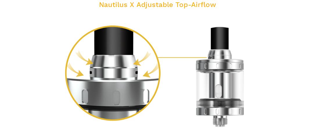 Aspire Nautilus X Tank features