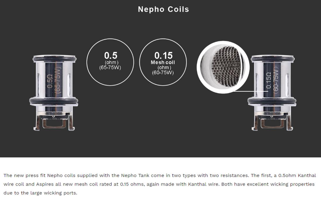 Aspire Nepho Coils