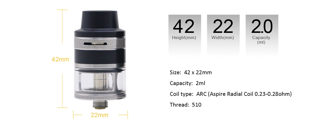 Aspire Revvo Mini Tank Parameter