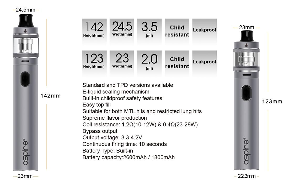 Aspire Tigon Kit Parameters