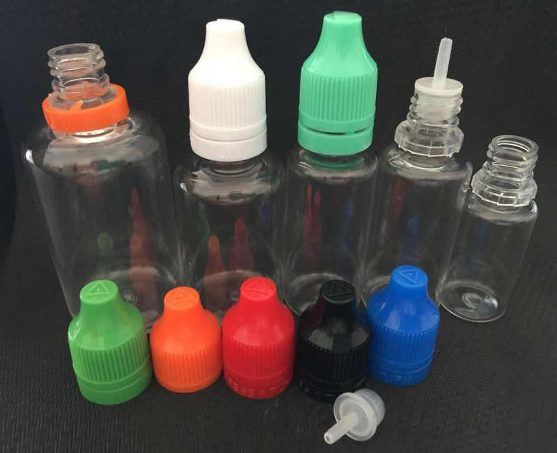 E-juice Bottle PET Material with Tamper Evident Childproof Cap 1