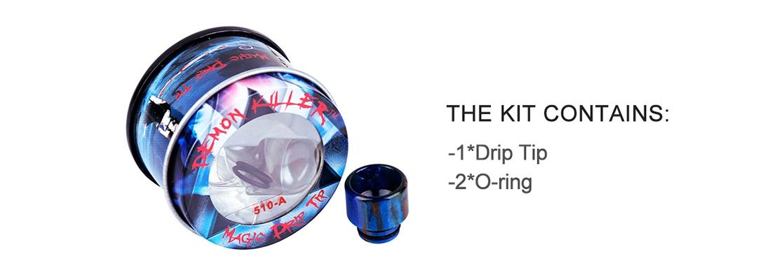 Demon Killer 510-A Resin Drip Tip Packing List
