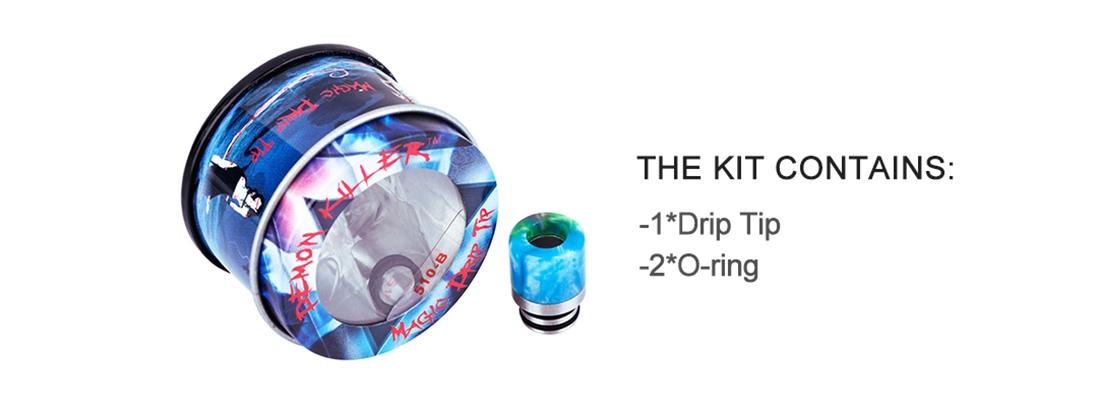 Demon Killer 510-B Resin Drip Tip Packing List