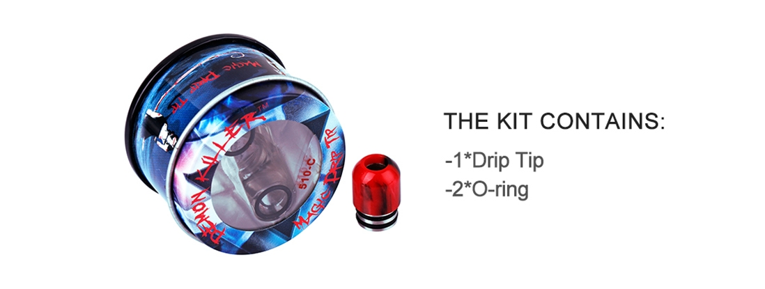 Demon Killer 510-C Resin Drip Tip Packing List
