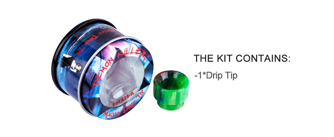 Demon Killer 528-A Resin Drip Tip Packing List