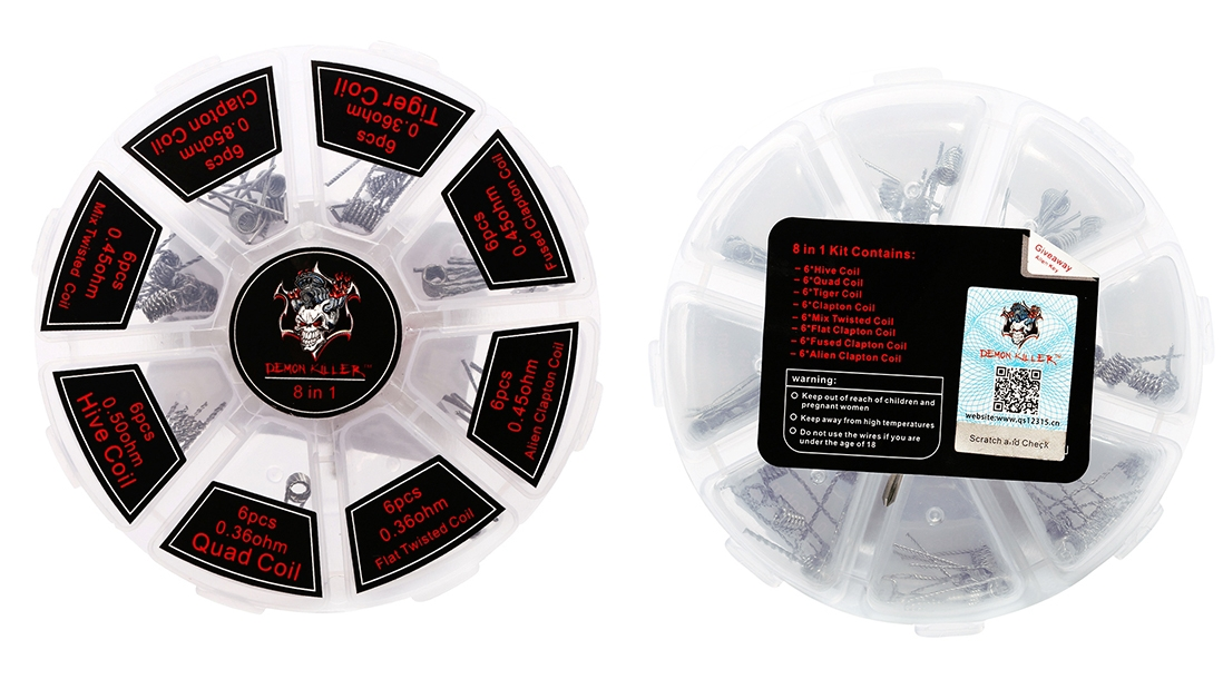 Demon Killer 8 in 1 Kanthal Prebuilt Heating Wire Features