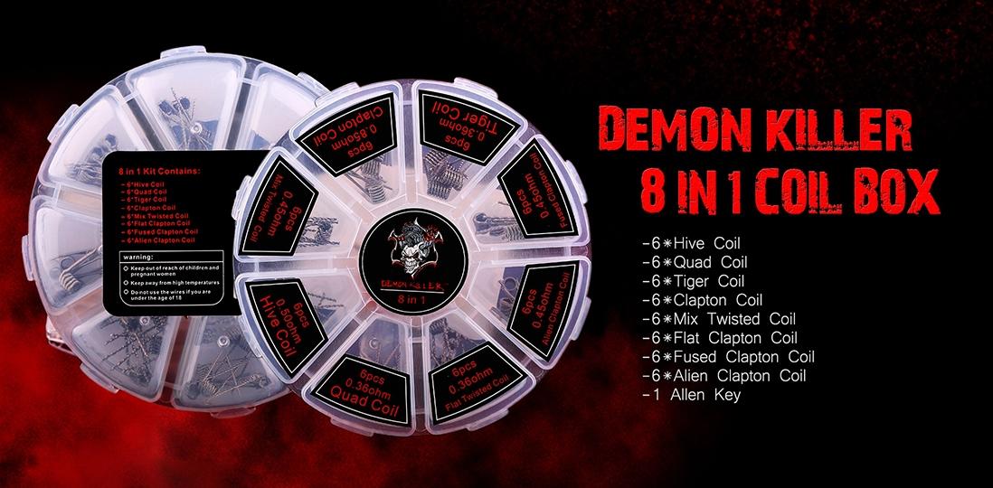 Demon Killer 8 in 1 Kanthal Prebuilt Heating Wire Packing List