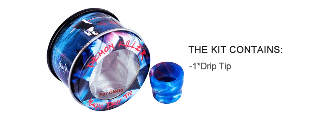 Demon Killer Cleito Resin Drip Tip Packing List