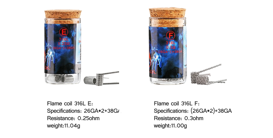 Demon Killer Flame Coil 316L Features