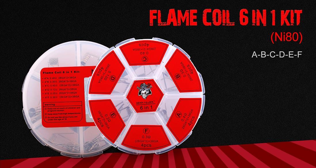 Demon Killer Flame Coil 6 In 1 Kit Ni80