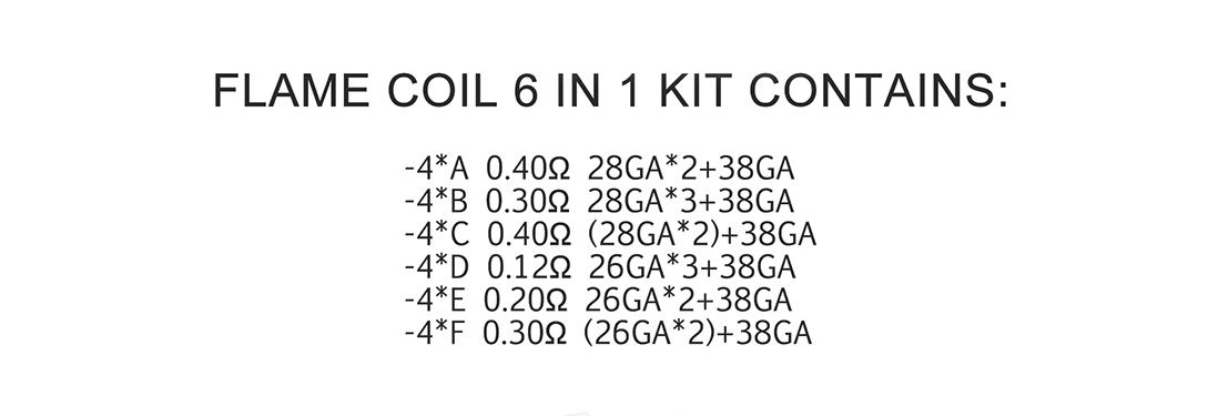 Demon Killer Flame Coil 6 In 1 Kit Ni80 Packing List