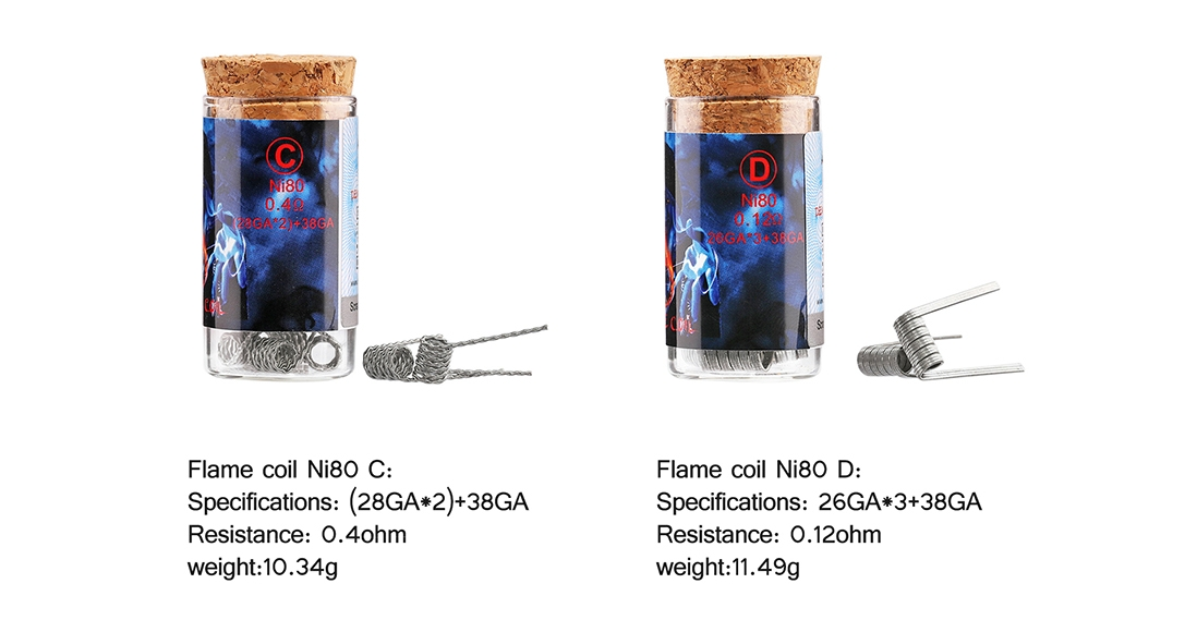 Demon Killer Flame Coil Ni80 Features