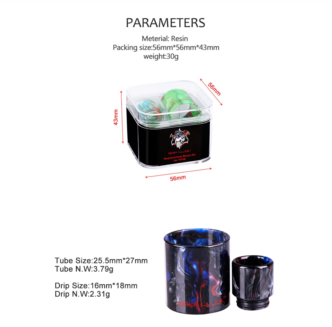 Demon Killer Replacement Resin Kit For TFV8 Parameter