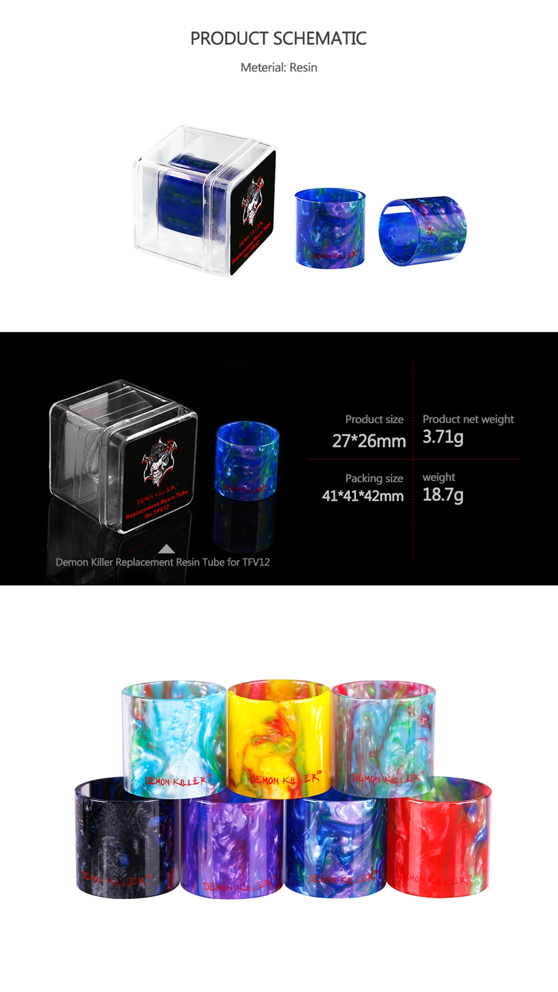 Demon Killer TFV12 Replacement Resin Tube
