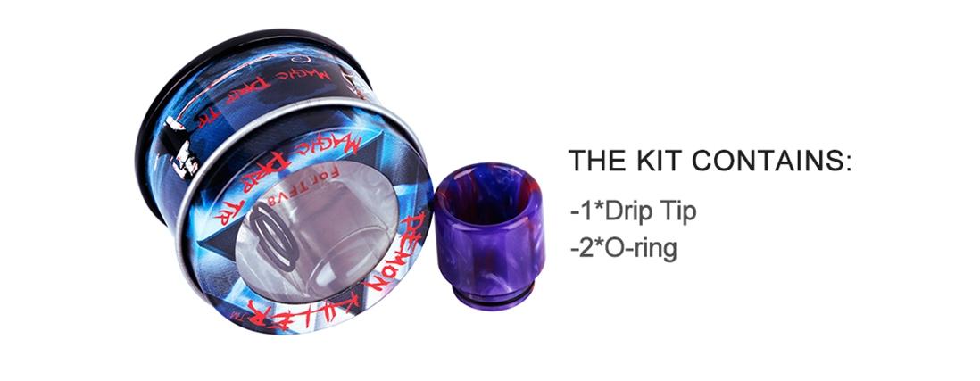 Demon Killer TFV8 Resin Drip Tip Packing List