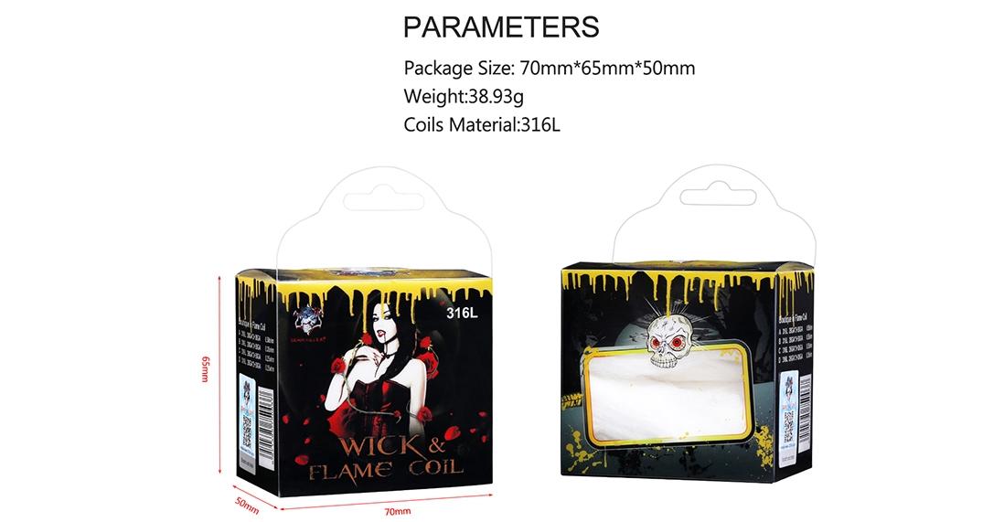 Demon Killer Wick & Flame 316L Wire Kit Parameter