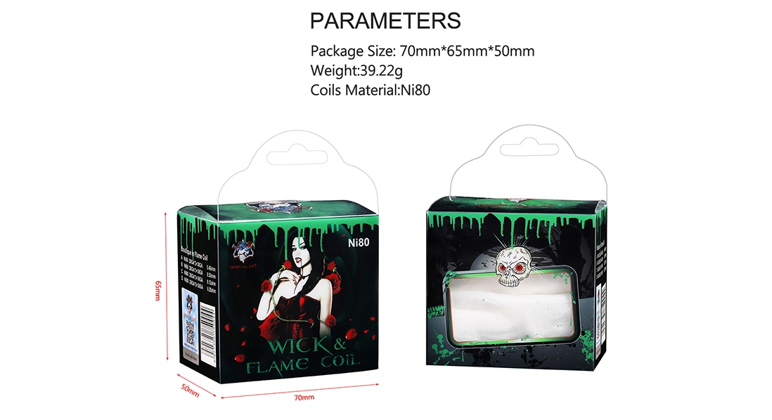 Demon Killer Wick & Flame Ni80 Wire Kit Parameter