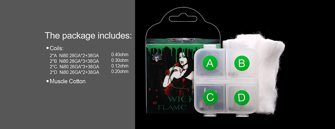 Demon Killer Wick & Flame Ni80 Wire Kit Packing List