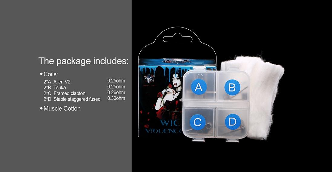 Demon Killer Wick & Violence Coil Packing List