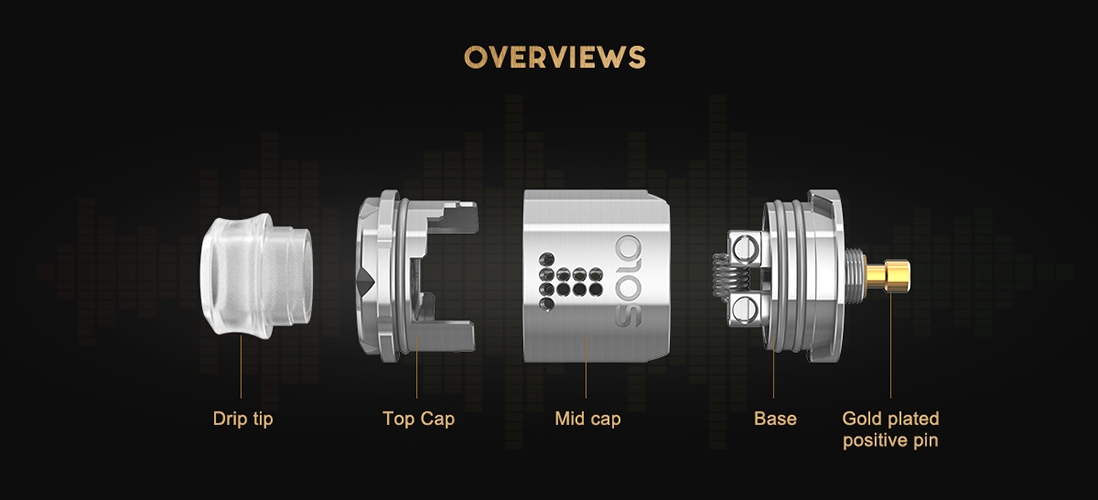 Digiflavor Drop Solo RDA Atomizer Overviews