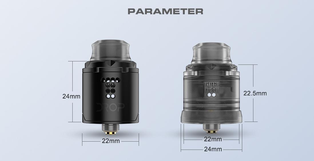 Digiflavor Drop Solo RDA Atomizer Parameters