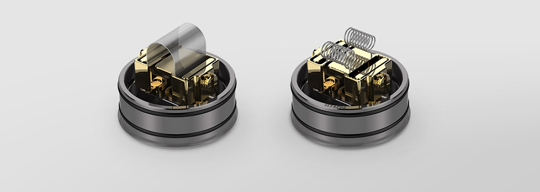 Digiflavor Mesh Pro RDA Rebuildable Atomizer Features support both mesh wires and standard coils