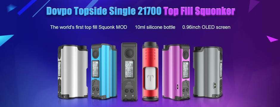 Dovpo Topside Single 21700 Top Fill Squonker