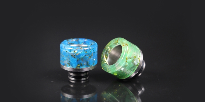 510 Colorful Stainless Steel Wide Bore Drip1