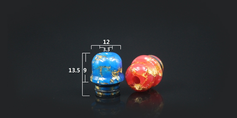 510 Golden Mix Colored Narrow Bore Funnel Drip Tip 1